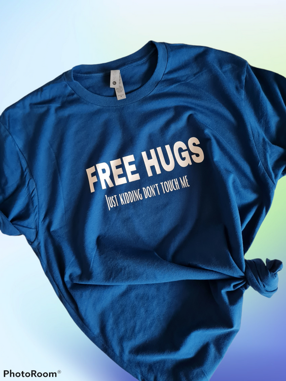 Free hugs adult tee (multiple colour choices)