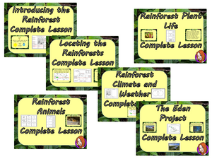 Rainforest Lessons and Plans