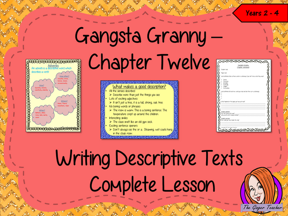 Writing Descriptive Texts Lesson  – Gangsta Granny