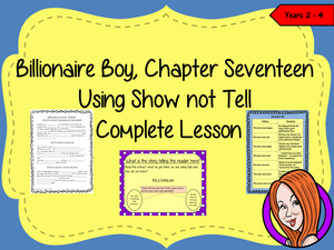 Billionaire Boy  – Using Show not Tell in Writing -  Complete Lesson