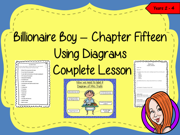Label and Use Diagrams Lesson  – Billionaire Boy