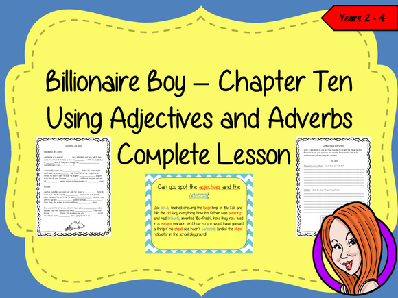 Using Adjectives and Adverbs; Complete Lesson  – Billionaire Boy