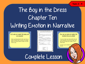 Complete Lesson Writing Emotion in Narrative   – The Boy in the Dress