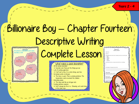 Writing Descriptive Texts Lesson  – Billionaire Boy