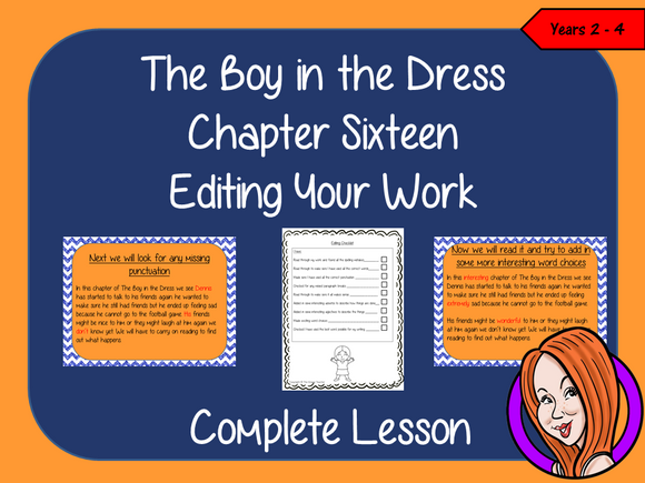 Editing Writing, Complete Lesson  – The Boy in the Dress