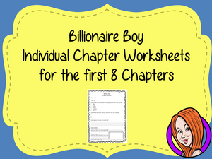 Chapter Worksheets for Billionaire Boy