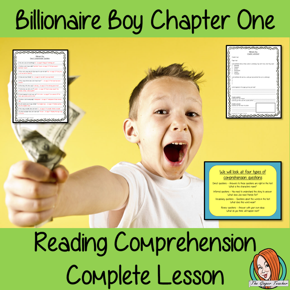 Reading Comprehension Complete Lesson  – Billionaire Boy