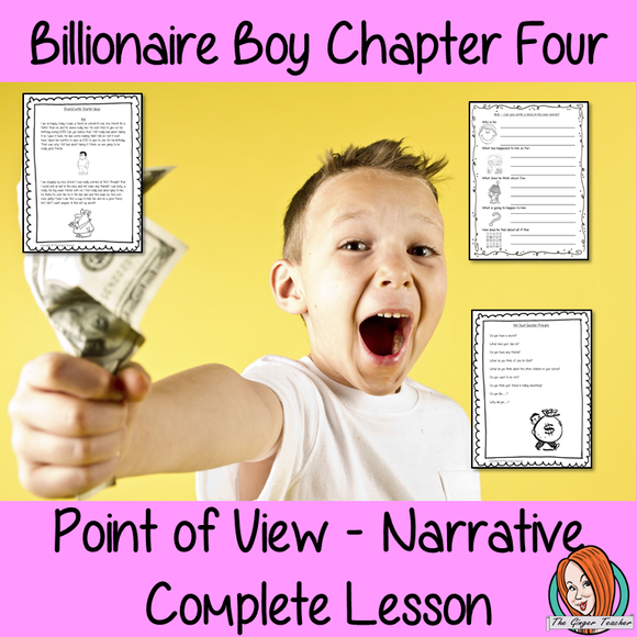 Point of View Narrative Writing  – Billionaire Boy
