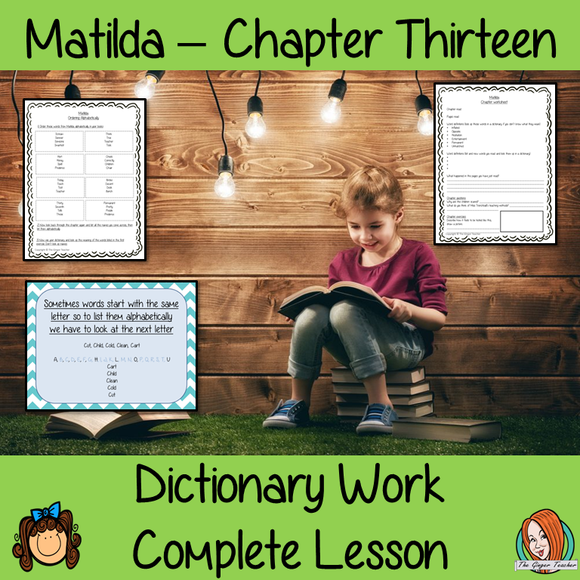 Dictionary Work Complete Lesson – Matilda