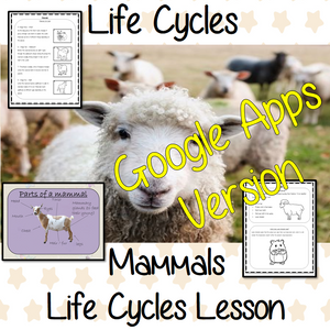 Distance Learning Mammals Life Cycles Google Slides Lesson This is the Google Slides version of this lesson! This is a complete lesson on Mammal life cycles.