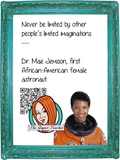 Dr. Mae Jemison Interactive Quote Poster Augmented Reality (AR) interactive quote poster This poster can be printed and used in your classroom access the augmented reality aspects of this poster download the free Metaverse AR (augmented reality) app. Dr. Mae Jemison will appear in your classroom to give your kids extra facts and a short video. Included are two posters one color and one black and white with AR codes for interactive content #blackhistorymonth #blackhistory #barackobama