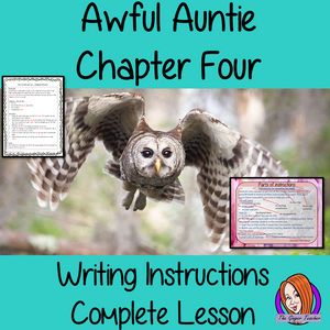 Complete Lesson on Writing Instructions Related to Awful Auntie by David Walliams. Children read and discuss the chapter. PowerPoint for children's understanding of instruction writing. The class write instructions together and the children plan and write their own using the writing frame and success criteria included For lower ability children a scaffold instruction cloze sheet. #lessonplans #bookstudy #teachingideas #readingactivities #awfulaunty #davidwalliams #instructions