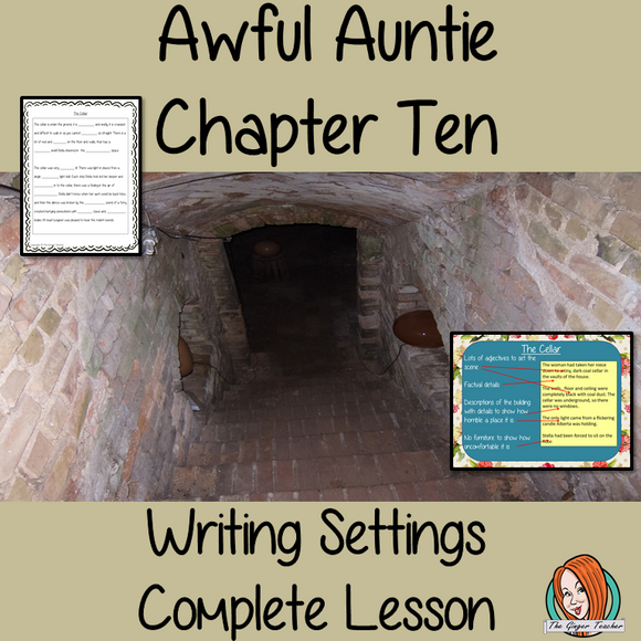 Writing settings in narratives Complete English Lesson on Awful Auntie by David Walliams. Teachers will get full resources and plans for teaching school children to write settings in  stories in the classroom. There is a PowerPoint to explain the activity and then practice independently. There is also a short chapter summary sheet for kids to reflect on the chapter read and share their ideas. #lessonplans #teachingideas #readingactivities #davidwalliams