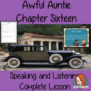 Speaking and listening Complete English Lesson on Awful Auntie by David Walliams. Teachers will get full resources and plans for teaching school children to debate in speaking and listening in the classroom. There is a PowerPoint to explain the activity and then practice independently. There is also a short chapter summary sheet for kids to reflect on the chapter read and share their ideas. #lessonplans #teachingideas #readingactivities #davidwalliams