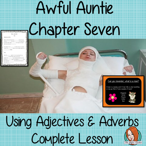 Using adjectives and adverbs Complete English Lesson on Awful Auntie by David Walliams. Teachers will get full resources and plans for teaching school children to use adjectives adverbs in the classroom. There is a PowerPoint to explain the activity and then practice independently. There is also a short chapter summary sheet for kids to reflect on the chapter read and share their ideas. #lessonplans #bookstudy #teachingideas #readingactivities #awfulaunty #davidwalliams #adjectives #adverbs