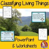 Classifying Living Things PowerPoint and Worksheets  teach children about classifying living things in one complete lesson. There is a detailed PowerPoint on the three types of living things, animals, plants and microorganisms. Details how to classify each and using a classification key. There are also differentiated worksheets to demonstrate student understanding great for teaching kids all about this classifying living things in your classroom. #livingthings #science #classification