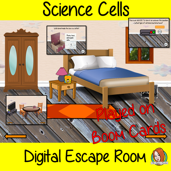 Cells Science Escape Room Boom Cards