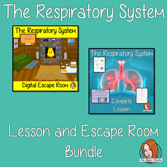 The Respiratory System Lesson and Escape Room Bundle