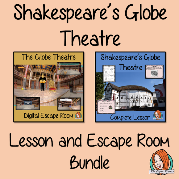 Shakespeare's Globe Theatre Lesson and Escape Room Bundle