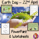 Distance Learning Earth Day Google Slides Lesson   This lesson teaches children about Earth Day which is held on the 22nd of April. There is a detailed 36 slide presentation on the details of Earth Day, why it is important and the things they can do to help the Earth. There are also differentiated, 5 page, Earth Day Google Slides worksheets to allow children to demonstrate their understanding of the environment and conservation.  This is the Google Slides version of this lesson!