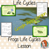 Distance Learning Life Cycles of a Frog Google Slides Lesson   These resources are a complete lesson on Frog Life Cycles, from my unit on Life Cycles of Animals. Great for teaching using frog life cycle activities This is the Google Slides version of this lesson!