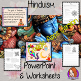 Distance Learning Hinduism Google slides Lesson  Let's learn about Hinduism!  This lesson teaches children about the religion of Hinduism. There is a detailed 35 slide presentation on the gods, beliefs, history, symbols and religious events. There are also differentiated, 8 page, Google Slides worksheets to allow children to demonstrate their understanding.  This is the Google Slides version of this lesson!