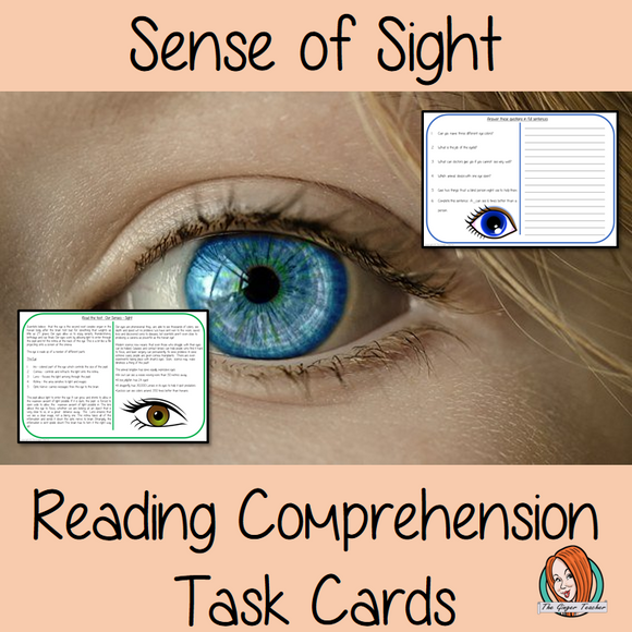 Sense of Sight Reading Comprehension Cards Differentiated reading comprehension cards. Three levels of texts and questions to help children with reading comprehension. This text is on the Three Little Pigs and has questions to help children understand and draw meaning from the text.
