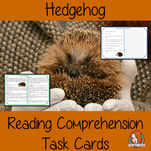 Hedgehog Reading Comprehension Cards    Differentiated reading comprehension cards. Three levels of texts and questions to help children with reading comprehension. This text is on the Hedgehog and has questions to help children understand and draw meaning from the text.