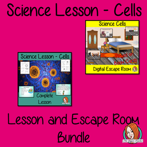 Cells Science Lesson and Escape Room Bundle