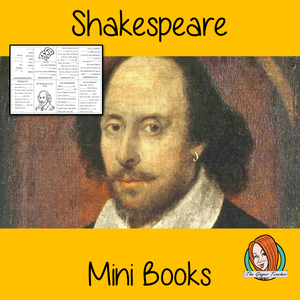Learn About Shakespeare Mini Book Use these mini books to teach children facts and information about Shakespeare. There are 5 mini books included, a completed version, 3 differentiated books to see how well the children know the information and a blank version to let them add their own Shakespeare information. #Shakespeare