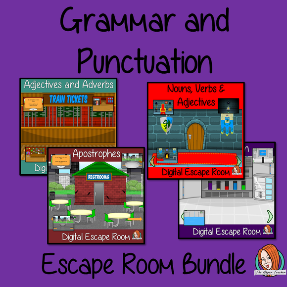 Grammar and Punctuation Escape Rooms Big Bundle