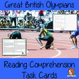 Great British Olympians Reading Comprehension Cards  Differentiated reading comprehension cards. Three levels of texts and questions to help children with reading comprehension. This text is on Great British Olympians and has questions to help children understand and draw meaning from the text.