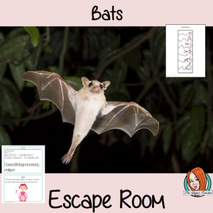 Bats Escape Room Game     Try this escape room style game with your students today! This is a fun game that is perfect for teaching children about Bats. This game focuses on students finding out facts and information and using these to solve puzzles. This helps them to learn.     This activity is great for the beginning of a topic to introduce information or at the end to recap.     Students are trying to help an alien understand Bats and they must solve a series of clues, as well as decode different cipher