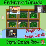 Endangered Animals Escape Room Boom Cards