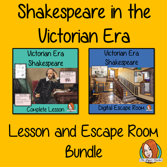 Victorian Era Shakespeare Lesson and Escape Room Bundle