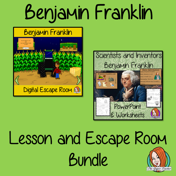 Benjamin Franklin Lesson and Escape Room Bundle