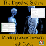 The Digestive System Reading Comprehension Cards Differentiated reading comprehension cards. Three levels of texts and questions to help children with reading comprehension. This text is on The Digestive System and has questions to help children understand and draw meaning from the text.