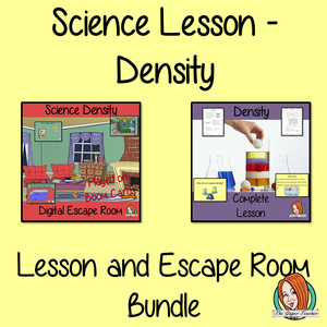 Density Science Lesson and Escape Room Bundle