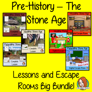Stone Age Lessons and Escape Rooms Big Bundle