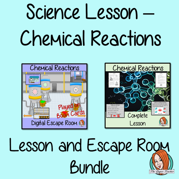 Chemical Reactions Science Lesson and Escape Room Bundle