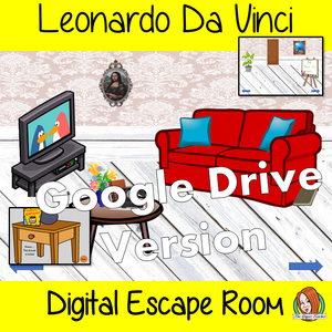 Leonardo Da Vinci Digital Escape Room Teach children about Leonardo Da Vinci with this fun digital escape room. Children will need to look around the room and learn facts about Da Vinci to solve the puzzles and eventually escape the room. This is a Google Drive file.