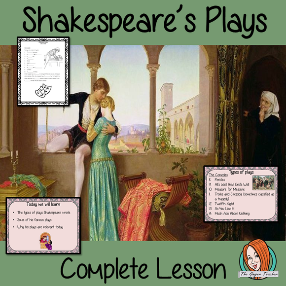 Shakespeare's Plays Complete Lesson