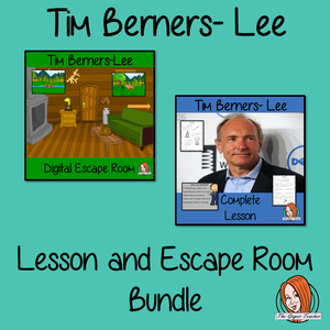 Tim Berners-Lee Lesson and Escape Room Bundle