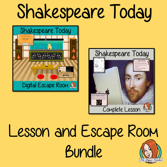 Shakespeare Today Lesson and Escape Room Bundle