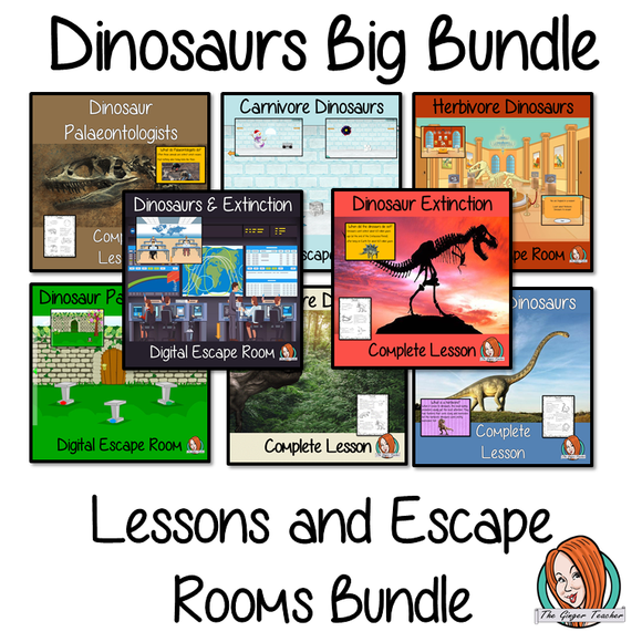 Dinosaur Lessons and Escape Rooms Big Bundle