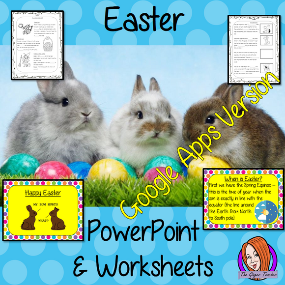 Distance Learning Easter Google Slides Lesson  These resources teach children about Easter in one complete lesson. There is a detailed 30 slide presentation on the Easter story, fun Easter facts, details about how the date of Easter is decided and a retelling of the Easter bible story. There are also differentiated, 8 page, Google Slides worksheets to allow students to demonstrate their understanding. This pack is great for teaching kids all about this religious festival