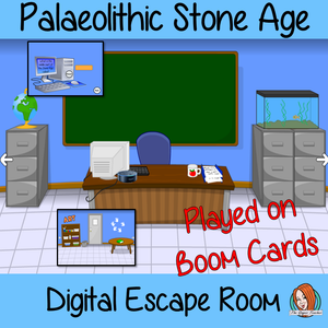Palaeolithic Stone Age Escape Room Boom Cards