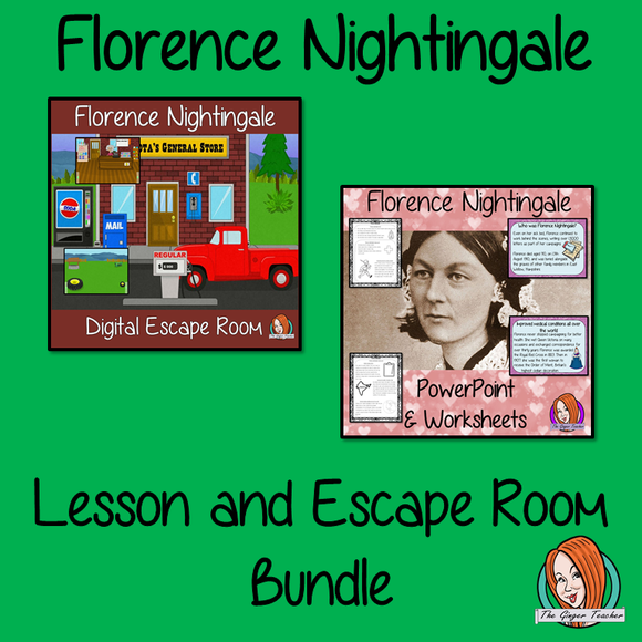 Florence Nightingale Lesson and Escape Room Bundle