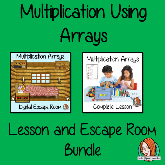 Multiplication Using Arrays Lesson and Escape Room Bundle