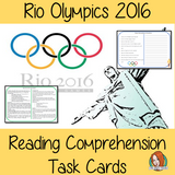 Rio 2016 Olympics Reading Comprehension Cards  Differentiated reading comprehension cards. Three levels of texts and questions to help children with reading comprehension. This text is on Rio 2016 Olympics and has questions to help children understand and draw meaning from the text.